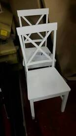 New 2 White Wooden Chairs £35 both