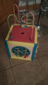 Childs wooden activity table