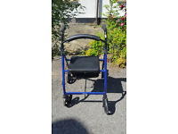Four/4 Wheel Mobility Aid Walker with Seat and Breaks Good Working Order Drive Brand