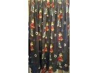 BOYS CURTAINS AND DUVET COVER AND PILLOWCASE