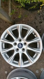 """4 x mark 5 ford Mondeo alloy wheels (Sparkle) 16"""" mk5 2015 complete with TPMS"""