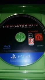 PS 4 game. Metal Gear Solid Visit The phantom pain