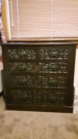Antique carved chest of drawers