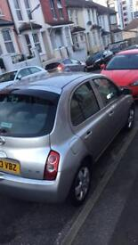 2003 Nissan Micra silver with 58000 mils good run with good condition 1 year MOT duty bought new car