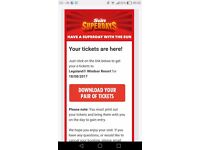 2 x Lego Land Tickets Friday 18th August