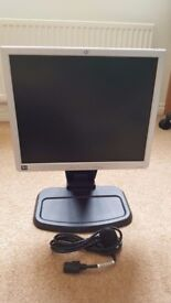 "HP1740 17"" MONITOR WITH HEIGHT ADJUSTABLE STAND & POWER ADAPTOR"