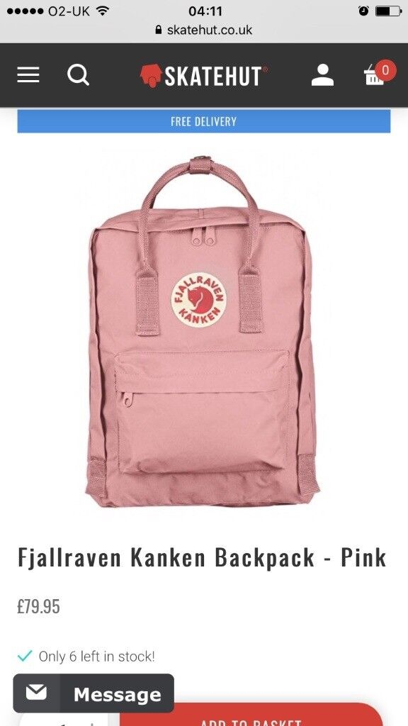 Brand New Fjallraven Kanken Classic Kids Rucksacks Original 16l