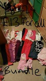 Bundles and individual items of girls clothes and shoes 18-24 and 2-3 shoes size 4-7