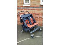 GRACO Double Buggy with raincover and cosytoes