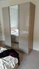 Gloss three door wardrobe
