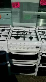 CANNON 50CM GAS DOUBLE OVEN COOKER IN WHITE
