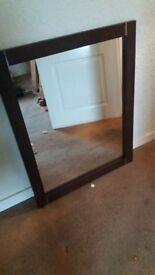 mirror. dark wood/wenge