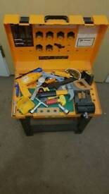 Children's play tool bench