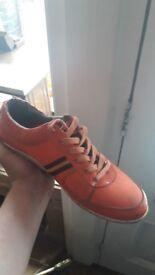 Luke 1977 Orange Trainers (size 9)