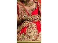 DESIGNER INDIAN WEDDING BRIDAL LENGHA DRESS