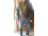 Leather Ashman Motorbike Jacket for sale