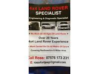 4x4 Land Rover specialist , mechanic , garage