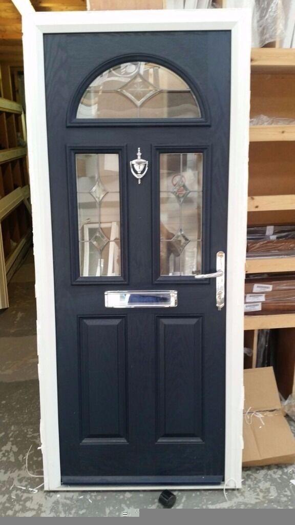 New solidor composite front door 900 x 2050 ludlow blue on for Composite double glazed doors