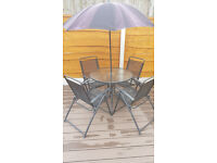 garden Cafe set 4 seater