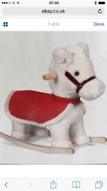 Snowflake mamas and papas rocking horse suitable up to approx 2 years old