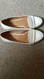 Zara cream flat shoes