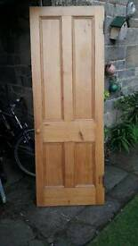Beautiful wood panel door