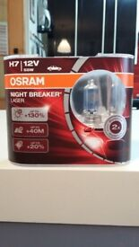 CAR BULB OSRAM H7 12 V 55 W NIGHT BREAKER LASER NEW NEVER USE