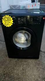 BEKO BLACK 6KG LOAD 1400 SPIN DIGITAL WASHING MACHINE