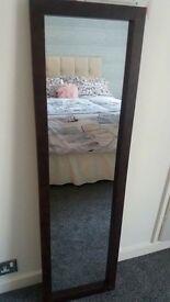 Full length wall mirror 130 x 36 cm
