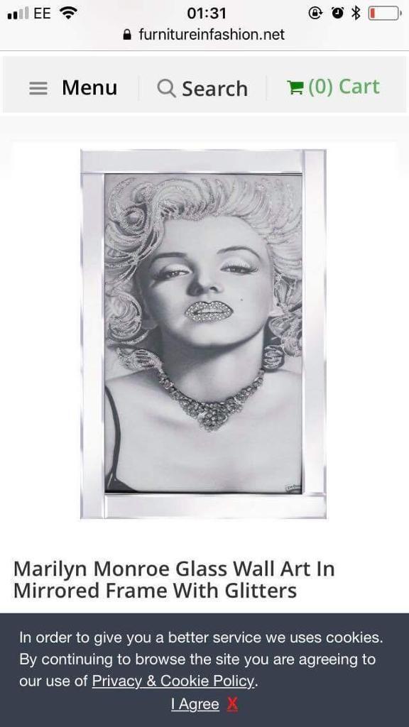 Marilyn Monroe frame | in East End, Glasgow | Gumtree