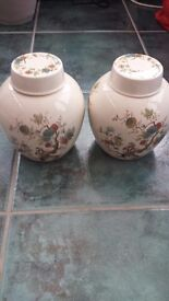 Vintage Pair of Royal Cauldron tea caddies