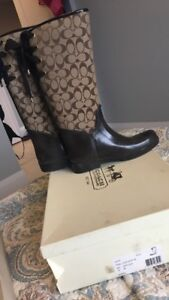 Authentic Coach Rain boots ladies size 10