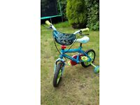 Childs bike toy story blue 2-3year old