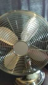 Stainless steel fan.