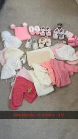 Baby girl 0-3/3-6m bundle
