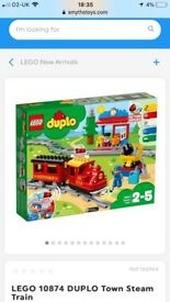 Brand new LEGO Duplo steam train