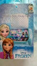 Frozen beauty bag with make-up