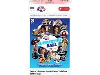 2 x Capital fm summertime Ball tickets, block level 142 seats