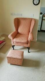 Arm chair and foot rest