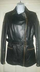 River Island Black Leather Biker Style