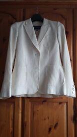 Paul Costello Cream Jacket size 10