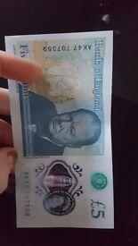 RARE AK47 £5 BANK NOTE