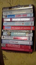 large collection of mary berry bake off books [hardback]