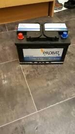 New probat car battery brand new 096