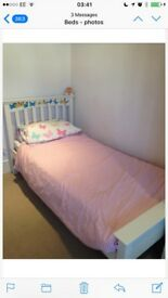 Child's Wooden bed and mattress