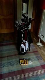 Wilson Deep Red Golf Clubs and bag