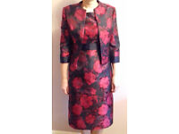 Reduced Mother of the Bride, Gina Bacconi, Red and Black Dress and Jacket Size 10 UK (c)