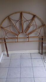 Wicker head board, reasonable condition, suit double bed, light, and easy to handle