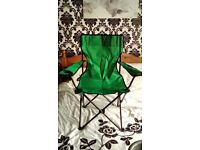 Pair of foldaway camping chairs