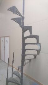 Cast Iron Spiral Staircase Great Condition Height 3.5meters Circumference 1.4